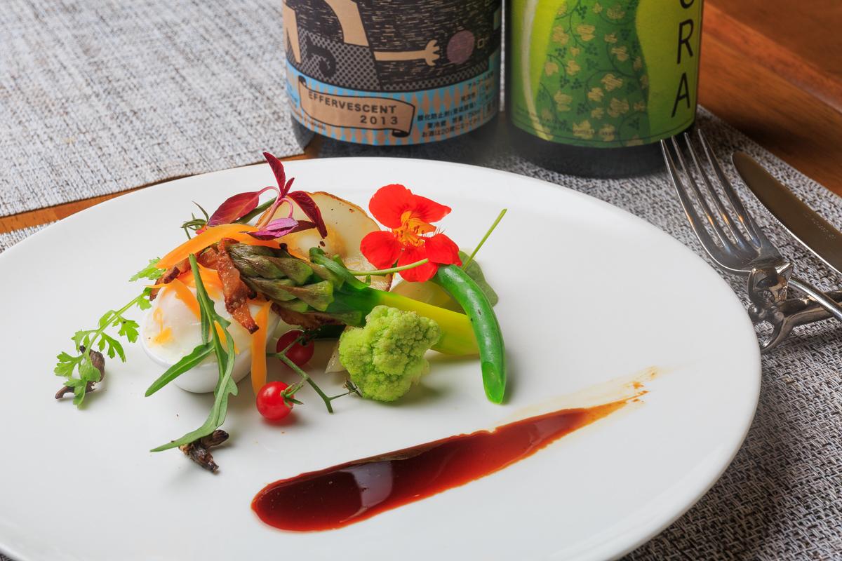 野菜のカルボナーラ
