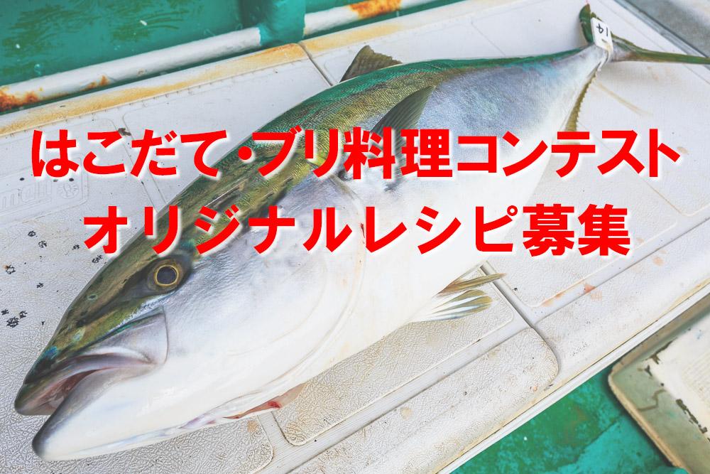 ブリ料理レシピ募集 (プロ・アマ問わず応募OK)