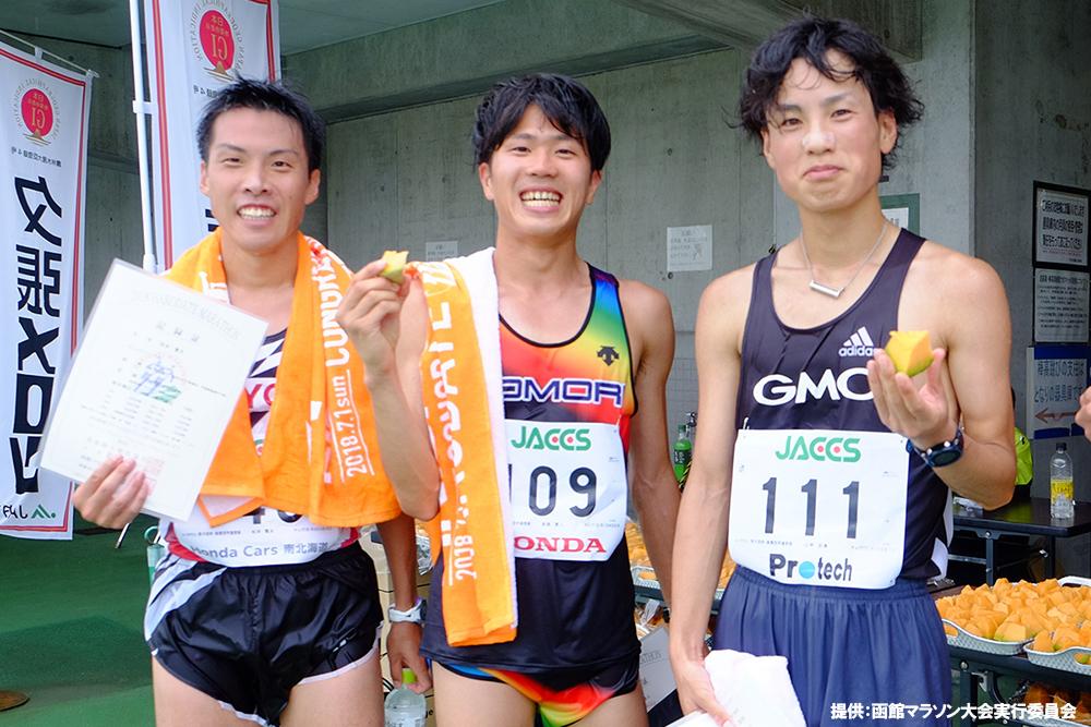 函館マラソンのおいしいエイドフード紹介