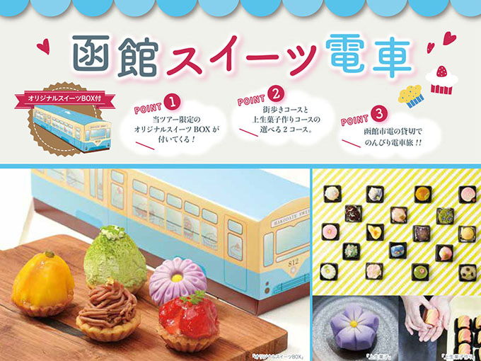 函館市電で街歩き&上生菓子作り